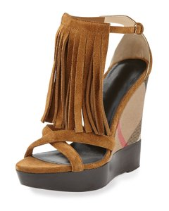 Burberry Caramel Wedges