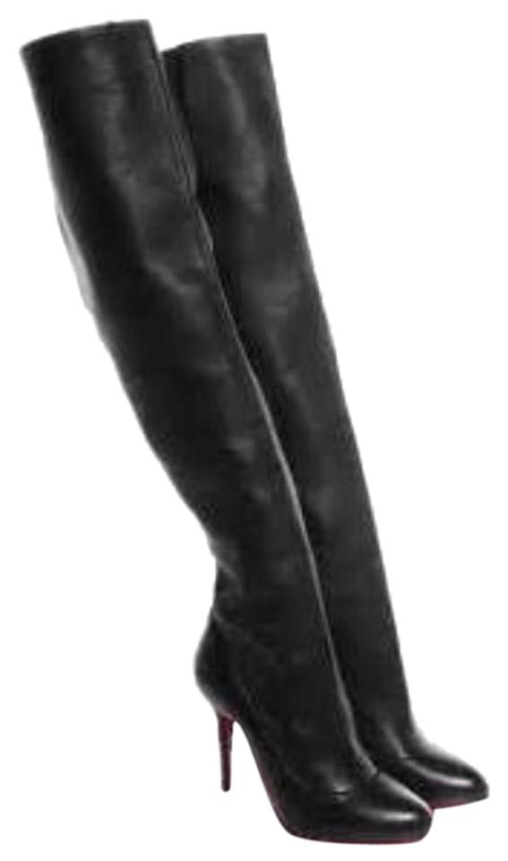 ca7e9b55ceb Christian Louboutin Black Sempre Monica 120mm Over The Knee 39.5 Boots  Booties. Size  US ...