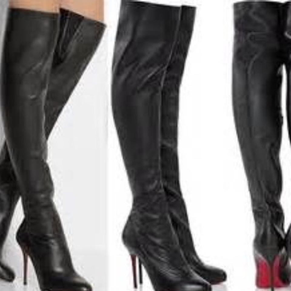 375da5b5998 Christian Louboutin Black Sempre Monica 120mm Over The Knee 39.5  Boots/Booties Size US 9.5 Regular (M, B) 44% off retail