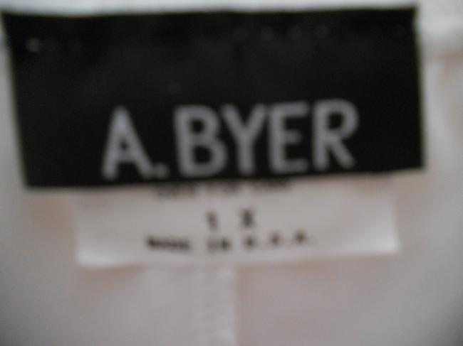 A. Byer Tiered Midi Length Skirt White