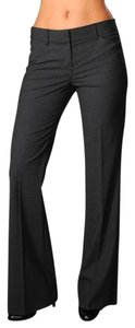 Theory Wool Stretch Flare Rare Flare Pants Charcoal Gray