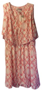 Forever 21 short dress Cream and Red Coral Summer on Tradesy
