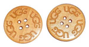 UGG Australia TWO (2) Varnished UGG Replacement Buttons (30mm) for Adult Boots