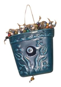HANDMADE TURKISH EVIL EYE NWOT ARTISIAN HANDMADE TURKISH EVIL EYE DECORATIVE FLOWER POT colorful