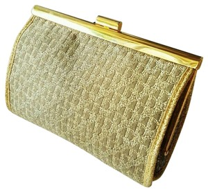 Dior Christian Wallet Scarf Tan Gold Clutch