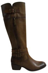 Arturo Chiang Leather Knee-high vintage cognac Boots