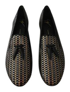 Giuseppe Zanotti Sophisticated Design Shimmer Finish Made In Italy Oro Flats