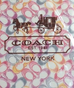 Coach New COACH Regular iPad Case Hard Molded With Signature C Multi-Color