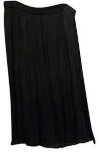 Avenue Crinkle Skirt Black