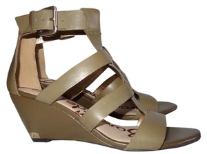 Sam Edelman Moss Gold Hardware Moss Green Wedges