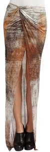 Helmut Lang Maxi Skirt Brown