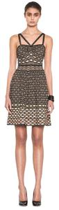 Missoni Metallic Strappy Crisscross Strap A-line Stretchy Dress