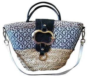 Guess Eden Cheetah Print Animal Print Tote in Multi color