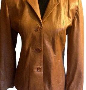 Vera Pelle Brownish tan Leather Jacket