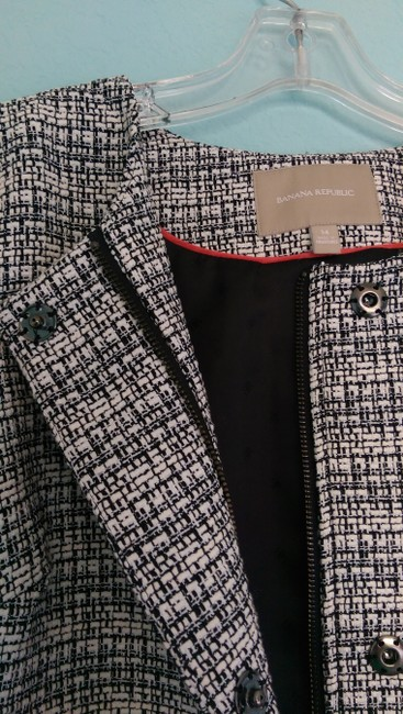 Banana Republic Black, white Blazer