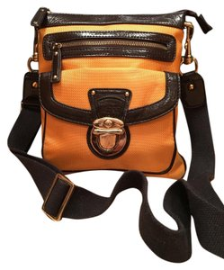 SR Squared with dark brown leather trim Messenger Bag