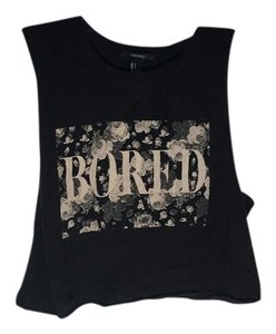 Forever 21 Bored Top Black