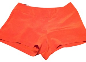 Jay Godfrey Silk Mini/Short Shorts Tangerine/Orange