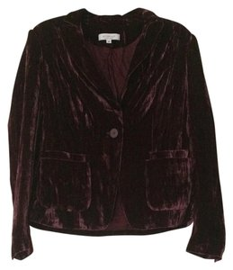 Emanuel Ungaro New with Tags Velvet Evening Limited Edition Bright Party Burgundy Blazer