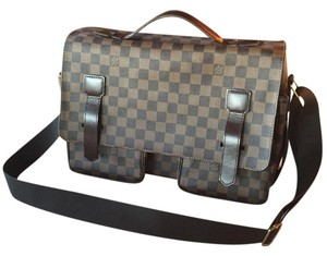Louis Vuitton Laptop Brown Messenger Bag