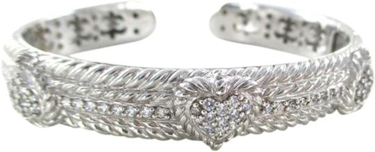 Preload https://item1.tradesy.com/images/judith-ripka-silver-sterling-diamonique-cuff-heart-bangle-zirconia-pave-bracelet-1948435-0-0.jpg?width=440&height=440