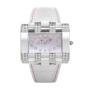 Corum Corum 18K White Gold Diamonds Leather Quartz Watch 024.402.69