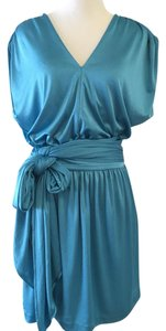 Halston short dress blue on Tradesy