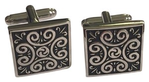 Creative designs by appealinglady Brand New Cufflinks Black Scroll Design