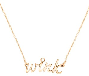 Kate Spade Women's Gold Say Yes Wink Necklace