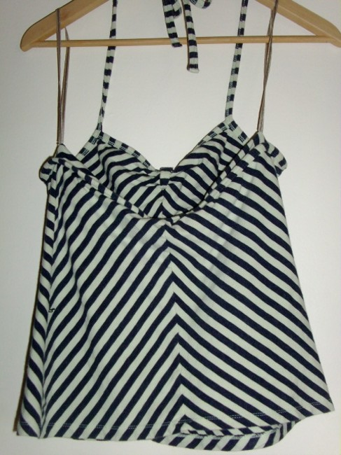 DKNY Blue stripe Halter Top