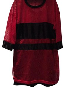 This Is A Love Song short dress Red and Black Mesh on Tradesy