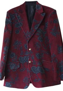 Dolce&Gabbana Dolce & Gabanna D&g Dolce Gabanna Velvet Floral Cranberry, black and gray Blazer