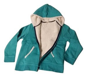 Lands' End Kids Hoodie Plush Zip Up Coat