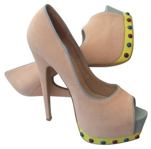 ShoeDazzle Pink Blue Platforms