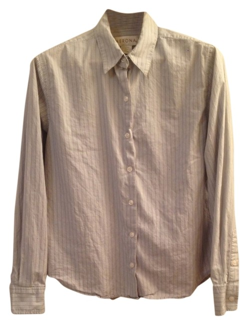 Merona Button Down Shirt Grey Striped