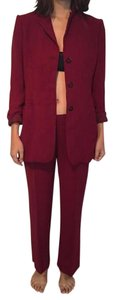 Emporio Armani Red pants suit with matching blazer