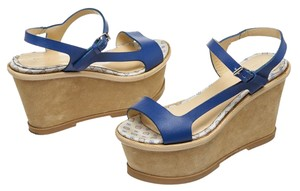 Philosophy By Alberta Ferreti Blue/Tan Wedges