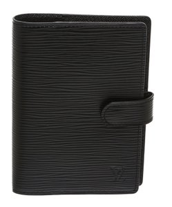 Louis Vuitton Louis Vuitton Black Epi Leather Mini Day Planner Cover
