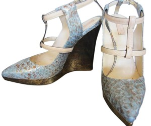Reed Krakoff light blue/Gold tone Wedges