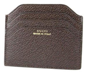 Gucci GUCCI Trademark Leather Card Houlder Case Brown 322107 2019