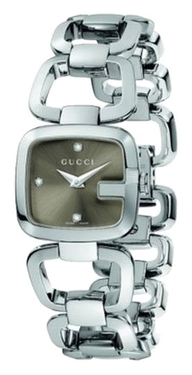 Preload https://item5.tradesy.com/images/gucci-steel-and-brown-women-s-version-w-3-diamonds-watch-1948604-0-0.jpg?width=440&height=440