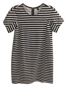 J.Crew short dress Black Striped on Tradesy