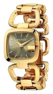 GUCCI Gucci Watch; WOMEN'S SMALL VERSION YELLOW GOLD WITH BROWN