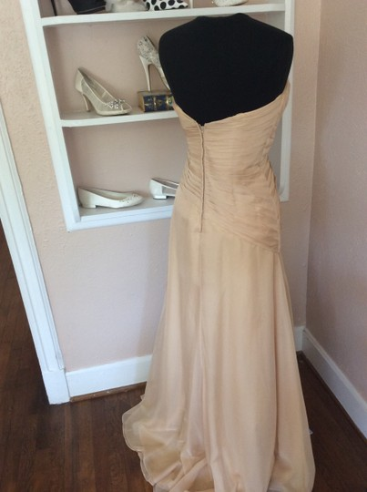Champagne Chiffon 2be207 Formal Bridesmaid/Mob Dress Size 4 (S)