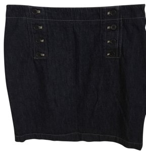 Calvin Klein Classic Preppy Skirt Denim (dark)