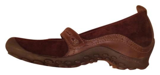 Preload https://item1.tradesy.com/images/merrell-brown-leather-plaza-bandeau-mary-janes-structured-heeled-sole-free-shipping-mulesslides-size-1948625-0-0.jpg?width=440&height=440