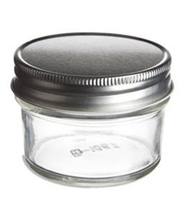 4oz Tapered Mason Jar With Tin Lid