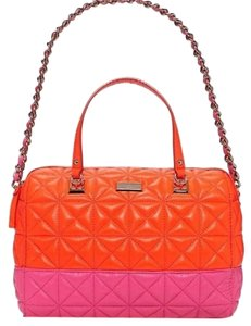 Kate Spade Bag Tote Satchel Sedgewick Place Kensley Satchel in Pink And orange
