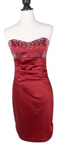 Alexis Pearl Rhinestone Strapless Formal Dress