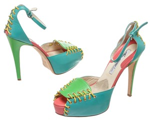 Brian Atwood Blue/Multicolor Pumps